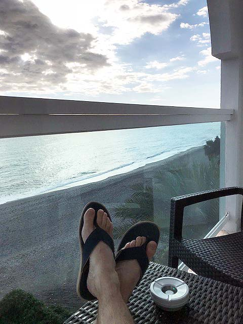 Nerja - Feet on balcony