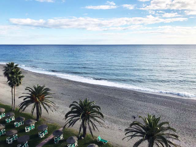 Nerja - Palms and Sea View