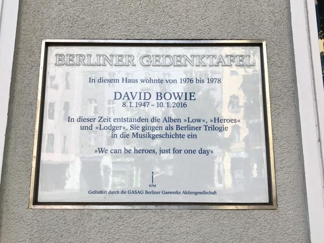 Bowie Plaque